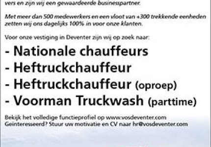 Vacature Vos Transport