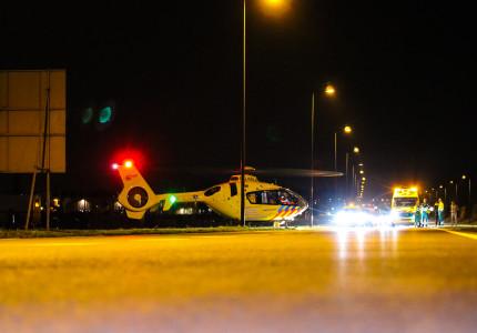 Oost Veluweweg korte tijd afgesloten vanwege landing traumahelikopter
