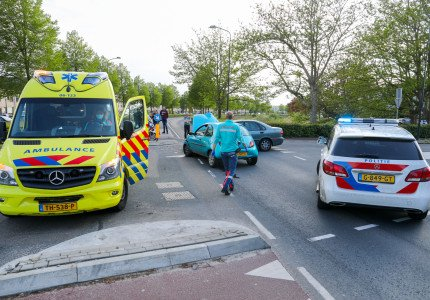 Veel schade bij ongeluk in Apeldoorn