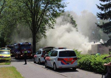 Grote woningbrand in Apeldoorn