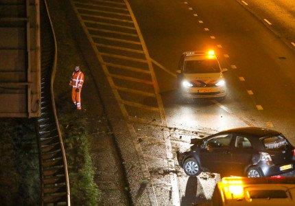 Meerdere ongevallen door gladheid in de regio Apeldoorn