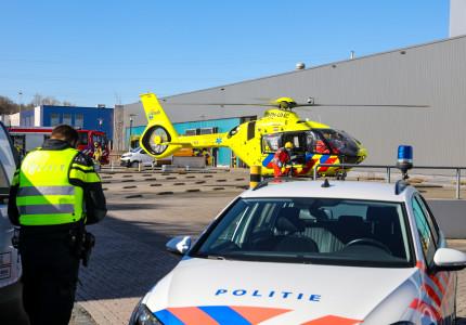 Ernstig bedrijfsongeval op industrieterrein in Apeldoorn zuid; traumahelikopter geland