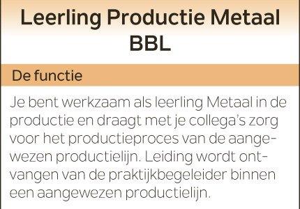Leerling Productie Metaal BBL