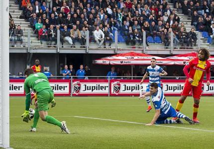 Mickey van der Hart vergroot misère Go Ahead Eagles